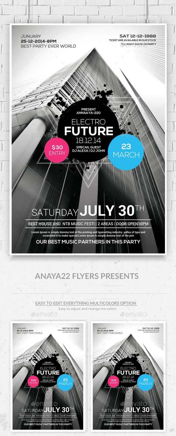 GraphicRiver Modern City Flyer Poster Psd Templates 10675493