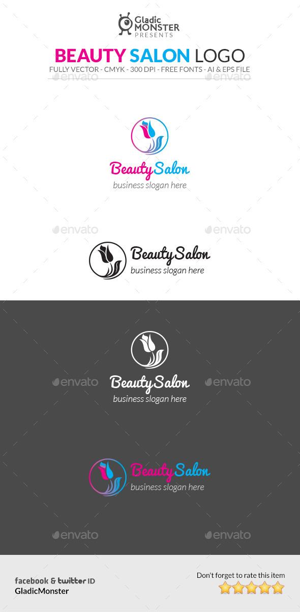 GraphicRiver Beauty Salon Logo 10675499