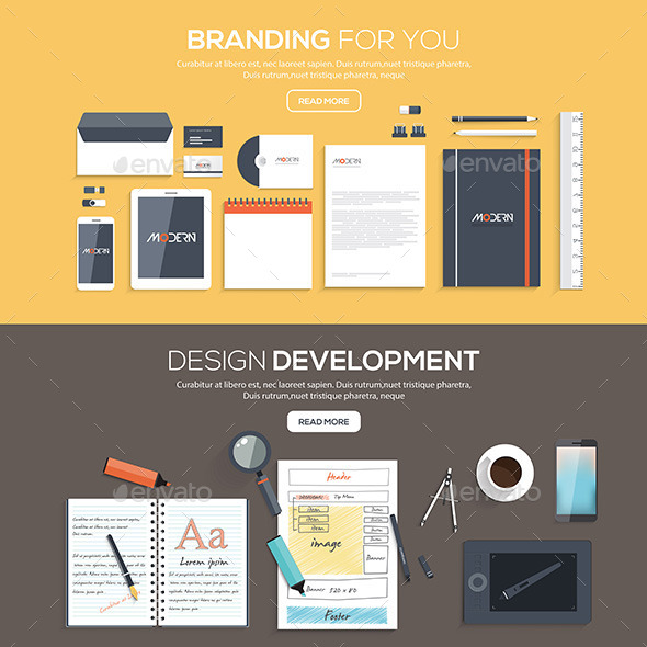 GraphicRiver Flat Designed Banners 10675506