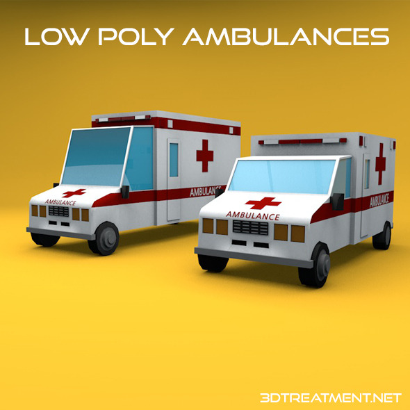 3DOcean Low Poly Ambulances 10675590