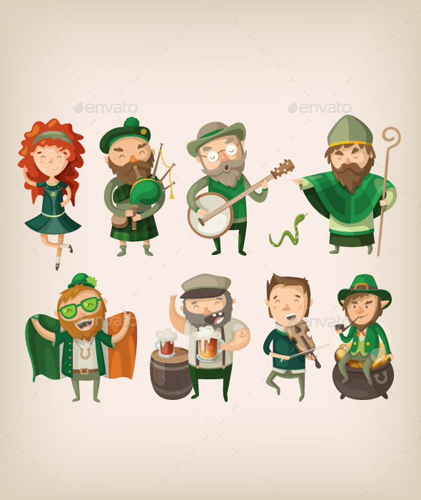 GraphicRiver Irish People in Pub 10675736