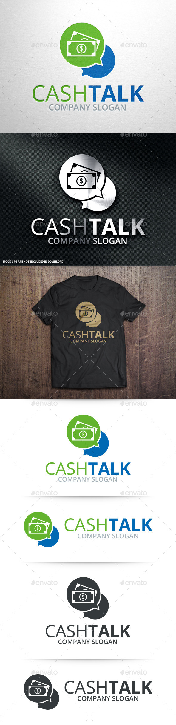GraphicRiver Cash Talk Logo Template 10675737