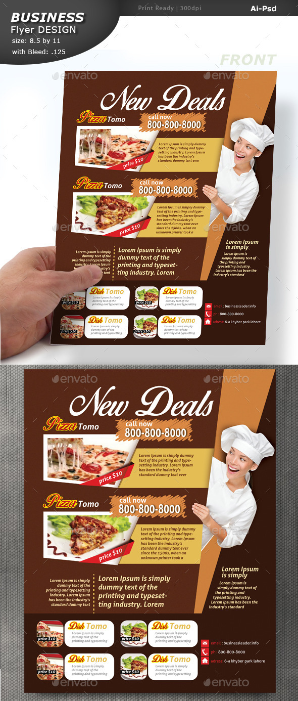 GraphicRiver Food Menu Design 10675751