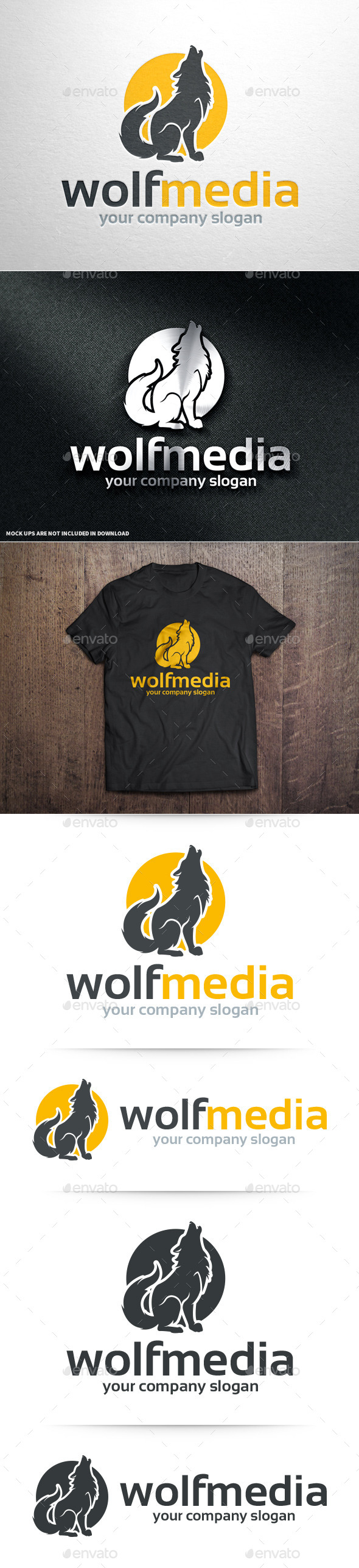 GraphicRiver Wolf Media Logo Template 10675827