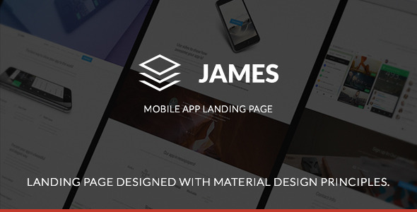 ThemeForest James Material Design Mobile App Landing Page 10676728
