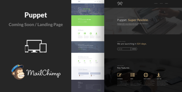 ThemeForest Puppet Minimal Responsive Coming Soon Template 10676870