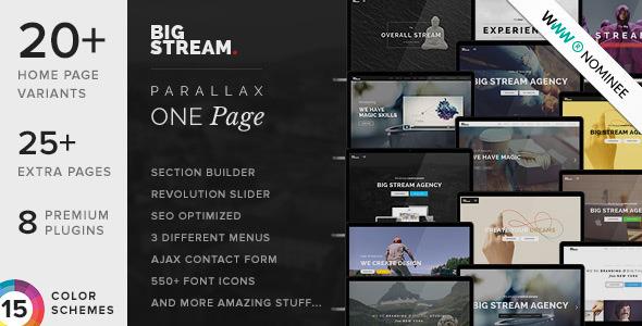 ThemeForest BigStream Multipurpose One Multi Page Theme 10677247