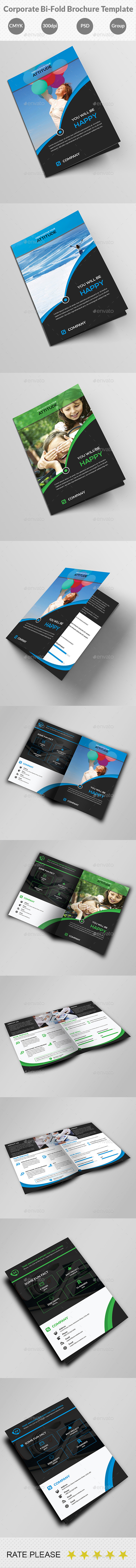GraphicRiver Corporate Bi-Fold Brochure Template 10606208