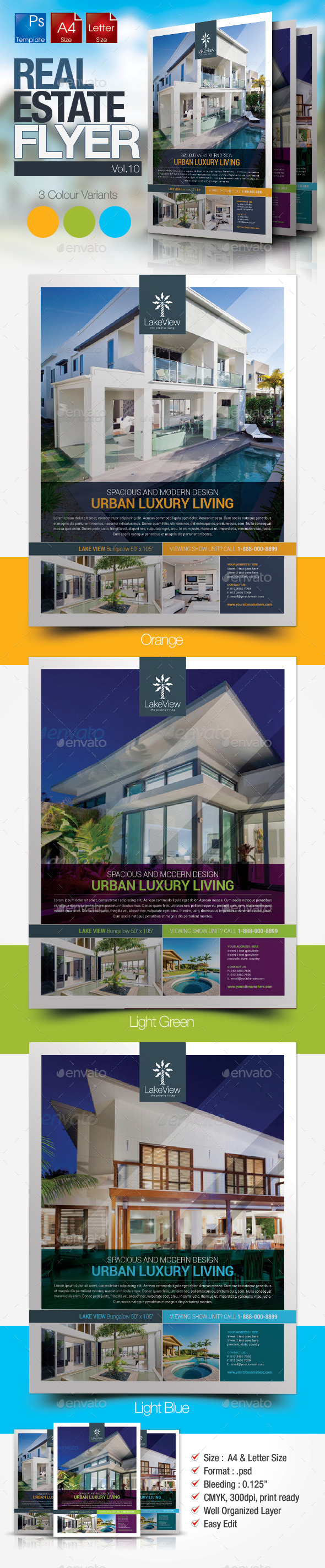 GraphicRiver Simple Real Estate Flyer Vol.10 10677437