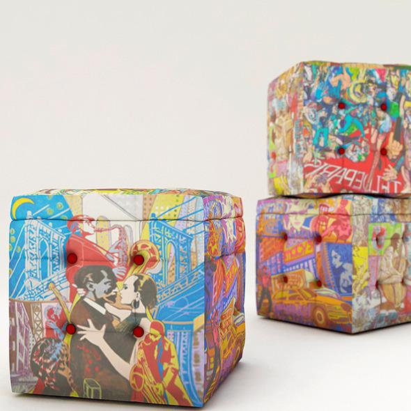 Pouf Design - 3DOcean Item for Sale