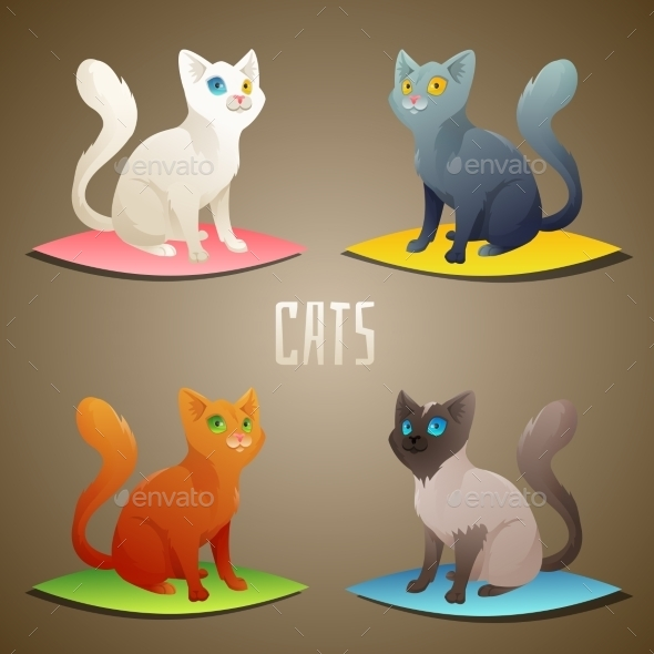 GraphicRiver Cats 10677675