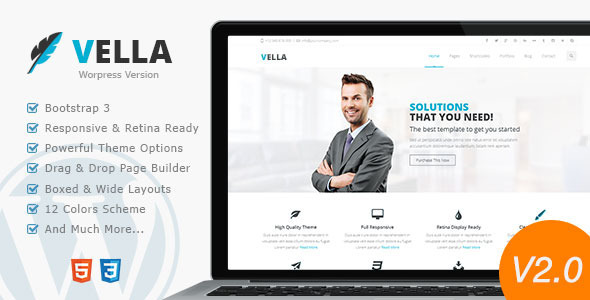 Vella - Retina Responsive Multi-Purpose Theme - Business Corporate