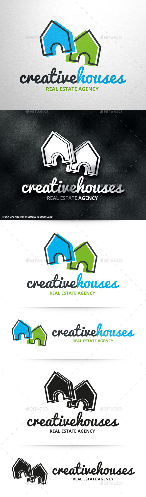 GraphicRiver Creative Houses Logo Template 10677836