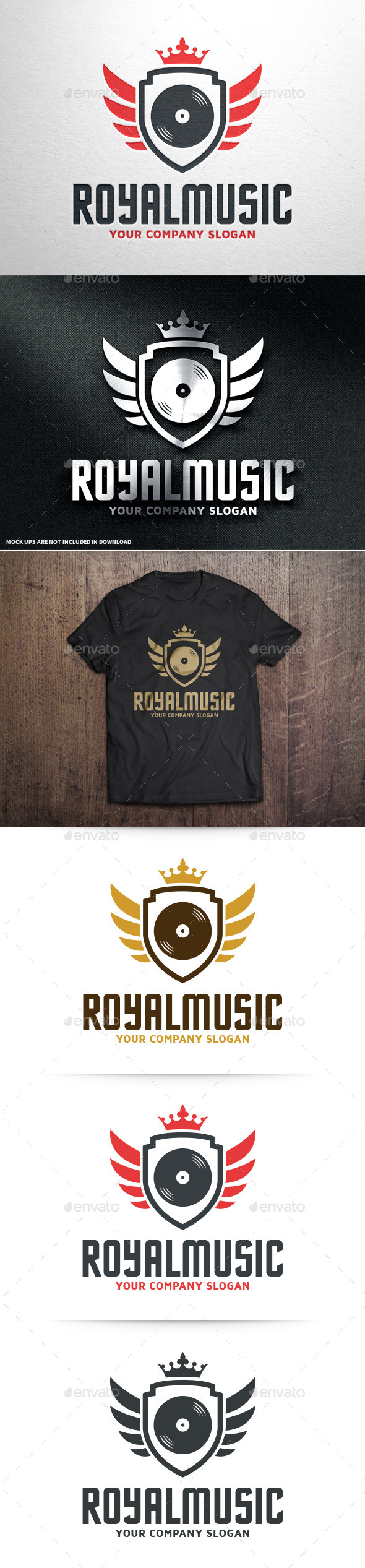 GraphicRiver Royal Music Logo Template 10677888