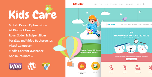 ThemeForest Kids Care Multi-Purpose Children WordPress Theme 10677891