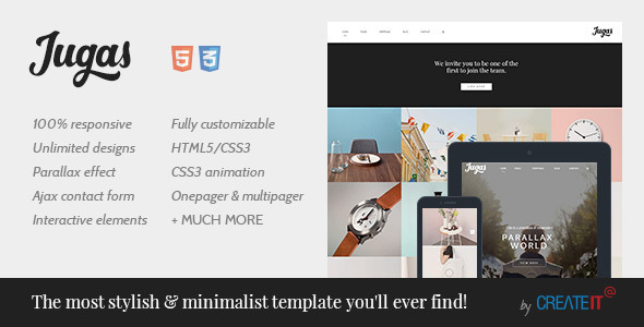 ThemeForest Jugas Stylish Freelancer Portfolio Template 10457660