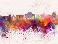 Catania skyline in watercolor background - PhotoDune Item for Sale