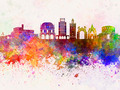Brescia skyline in watercolor background - PhotoDune Item for Sale
