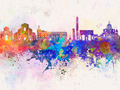 Bologna skyline in watercolor background - PhotoDune Item for Sale