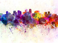 Phoenix skyline in watercolor background - PhotoDune Item for Sale