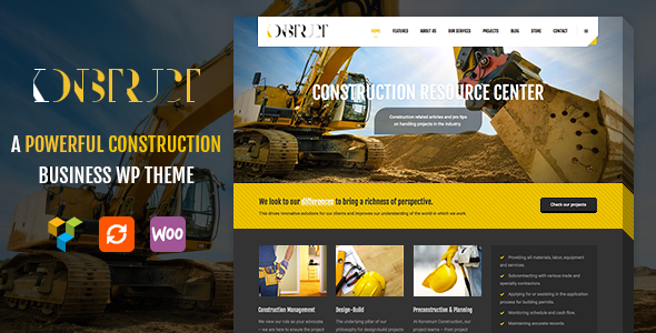 ThemeForest Konstruct WordPress Construction Building And Business Theme 10678081