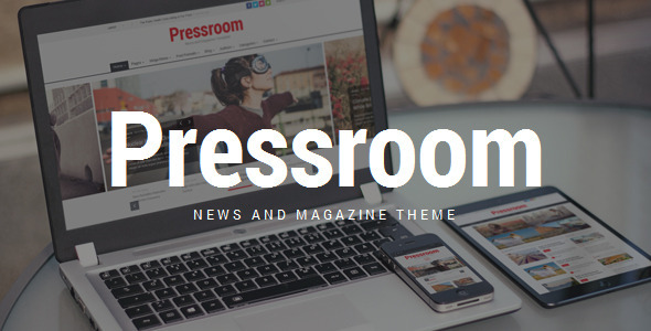 ThemeForest Pressroom News and Magazine WordPress Theme 10678098