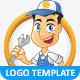 Repairman Vector Logo Template & Mascot - GraphicRiver Item for Sale