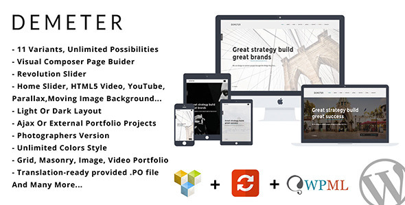 ThemeForest Demeter One Page Parallax WordPress Theme 10595857