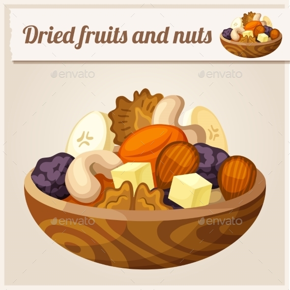 GraphicRiver Detailed Icon Dried Fruits and Nuts 10678234