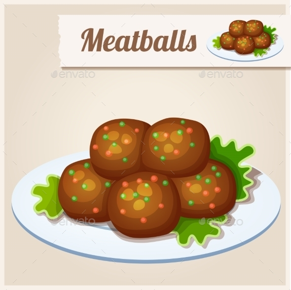 GraphicRiver Detailed Icon Meatballs 10678236