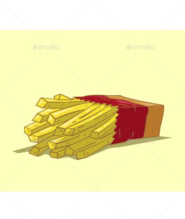 GraphicRiver French Fries Vector 10678243
