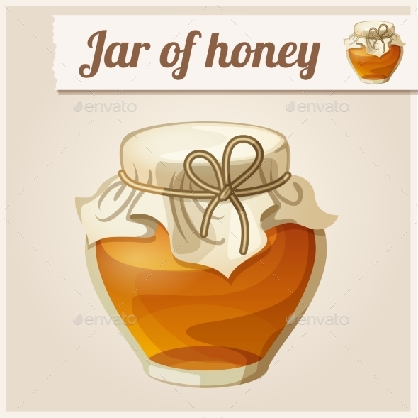 GraphicRiver Detailed Icon Jar of Honey 10678343