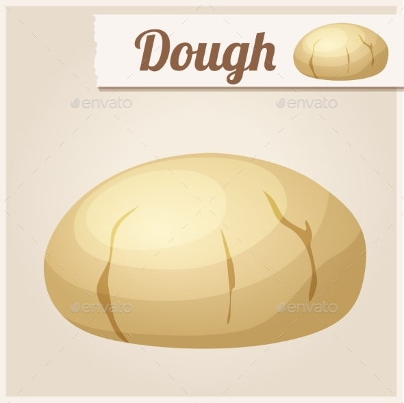 GraphicRiver Dough Detailed Vector Icon 10678345