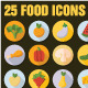 Set of 25 Food Icons - GraphicRiver Item for Sale