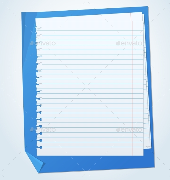 GraphicRiver Paper Sheets with Lines 10678374
