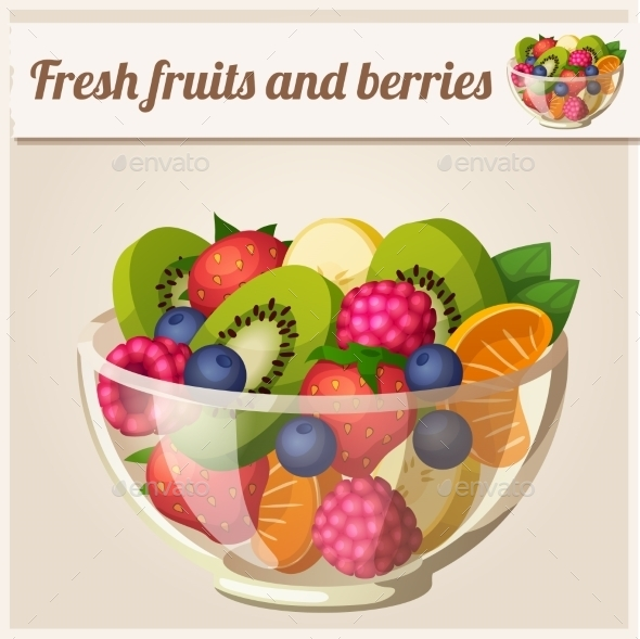 GraphicRiver Fruit and Berries Bowl 10678376