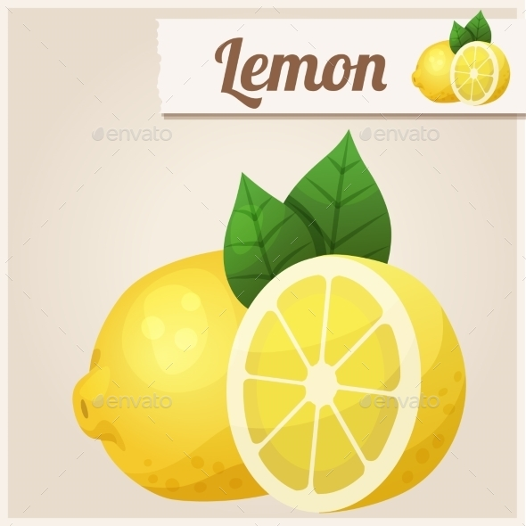 GraphicRiver Lemon Detailed Vector Icon 10678378