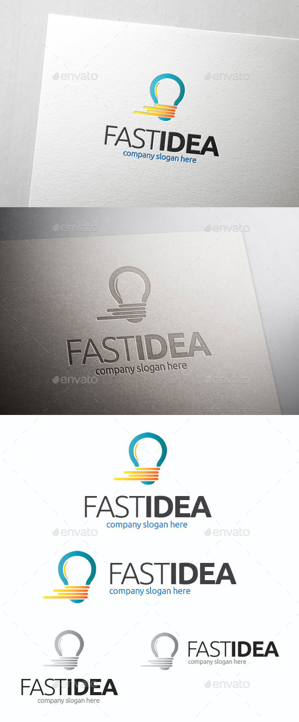 GraphicRiver Fast Idea Logo Template 10678450