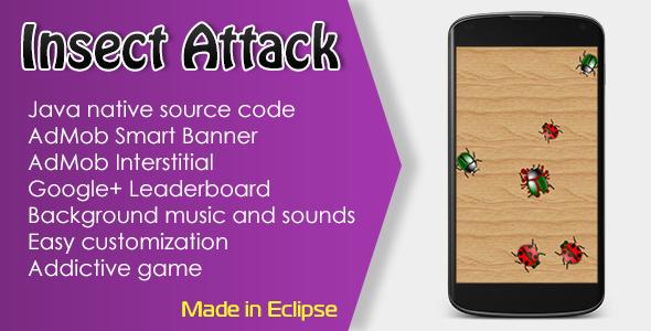 CodeCanyon Insect Attack Game with AdMob and Leaderboard 10657842