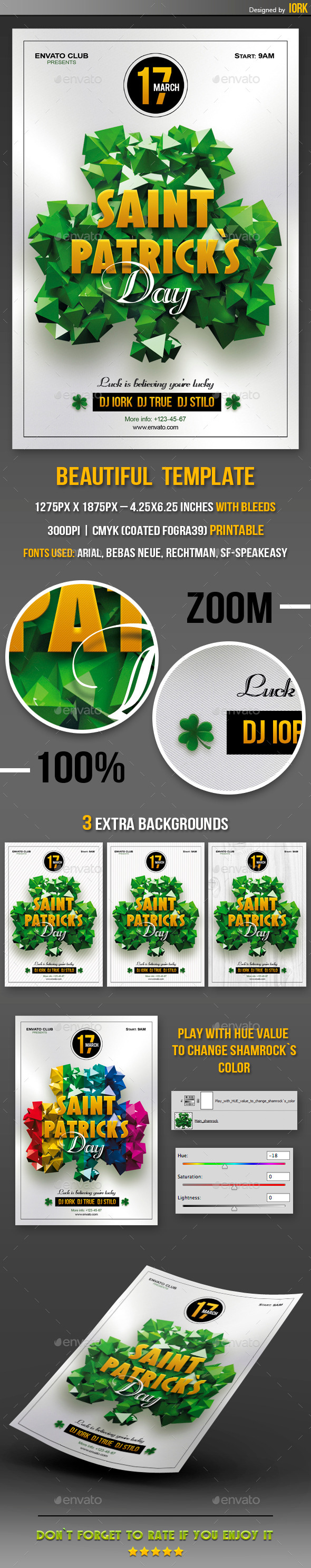 GraphicRiver Saint Patrick`s Day Party flyer 10600919