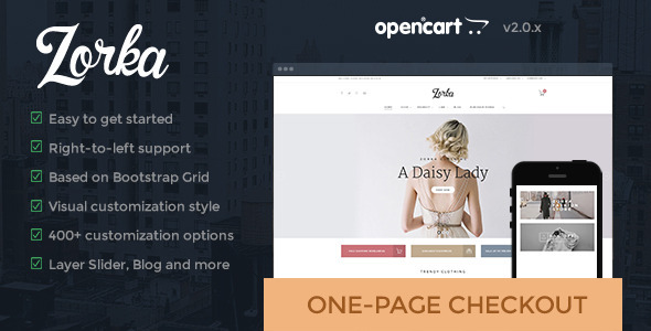 ThemeForest Zorka- An intuitive fashion OpenCart theme 10678556