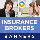 Insurance Broker Banners - GraphicRiver Item for Sale