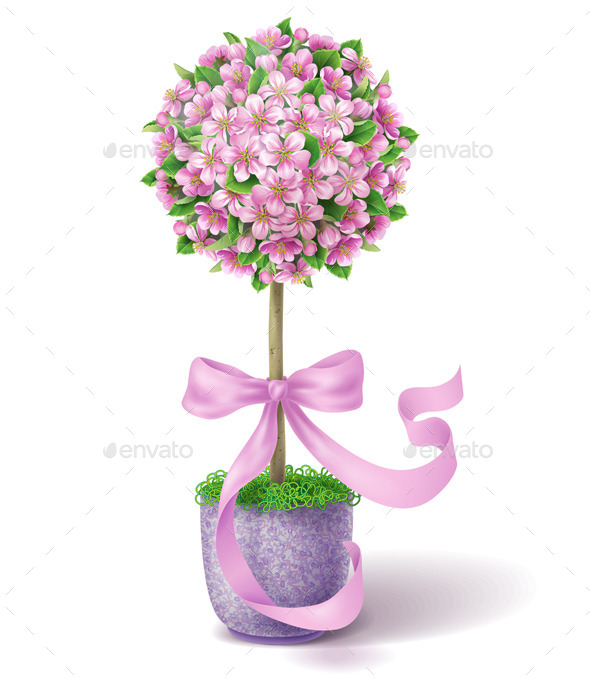 GraphicRiver Spring Flower Topiary 10678665