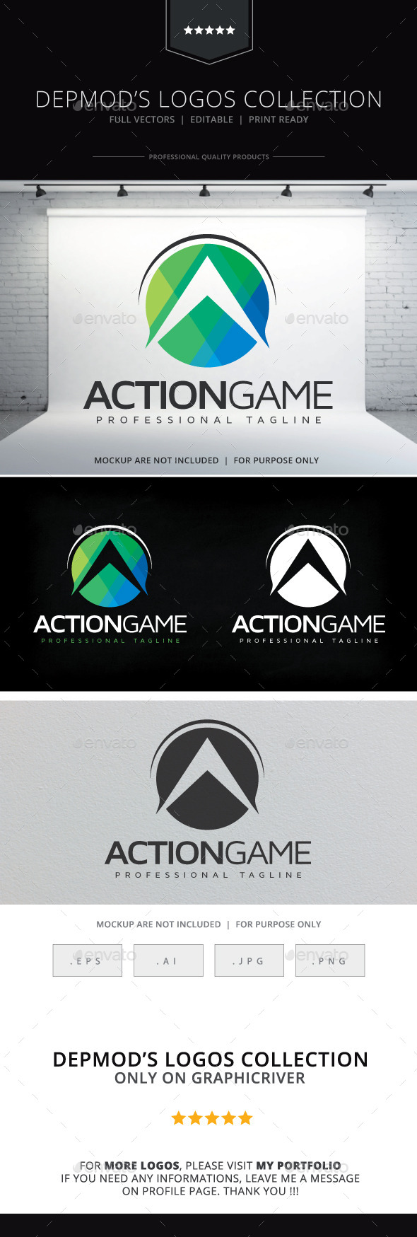 GraphicRiver Action Game Logo 10678668