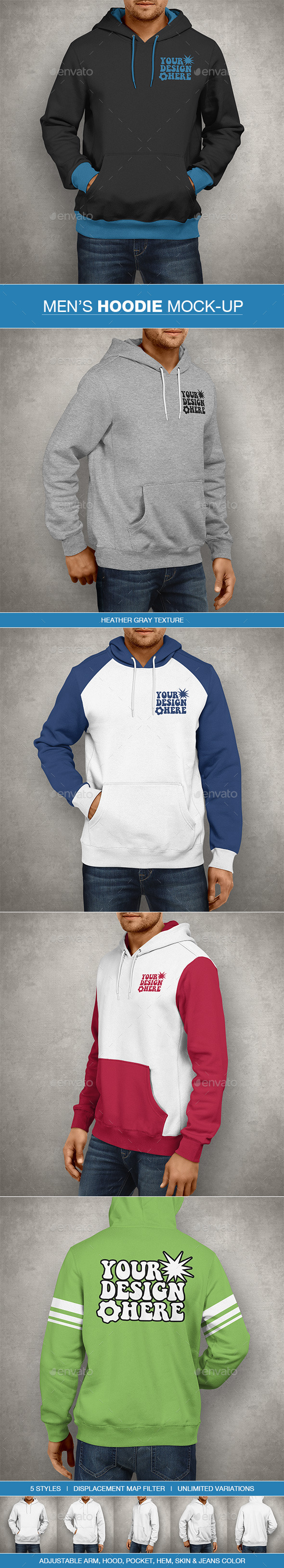 GraphicRiver Hoodie Mockup Men s Edition 10678704