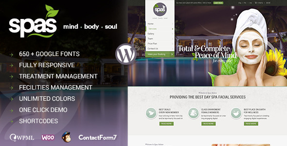 Spas | Health and Beauty WordPress Theme