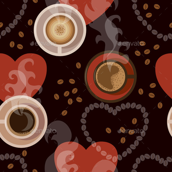 GraphicRiver Coffee Pattern 10678719