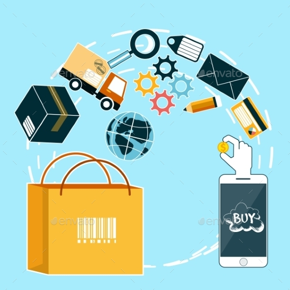 GraphicRiver Internet Shopping and Delivery 10678735