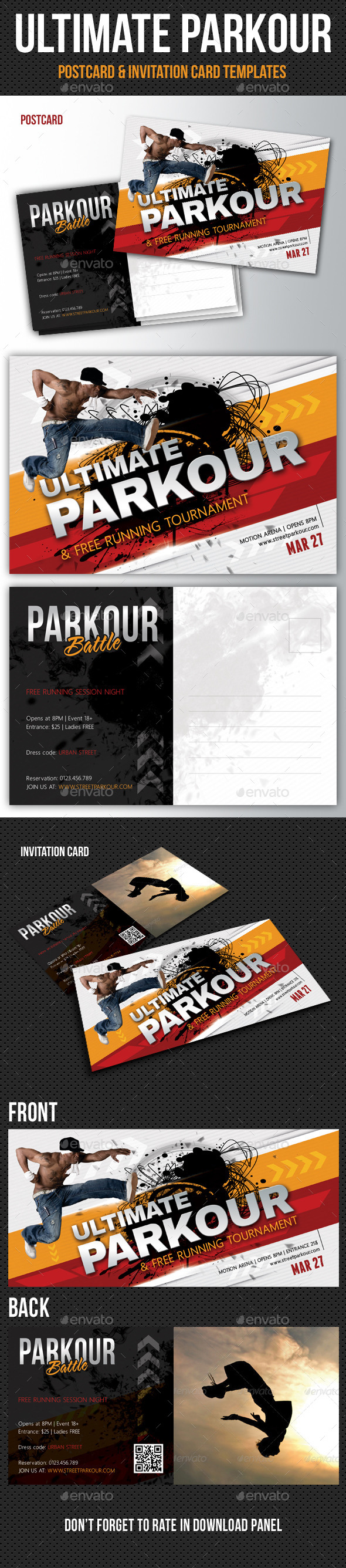 GraphicRiver Ultimate Parkour Invitation and Postcard Pack 10678776