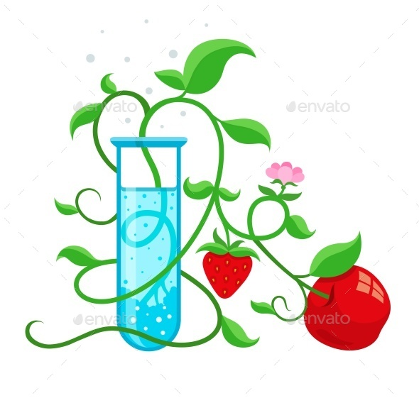 GraphicRiver GMO Genetically Modified Foods Growing 10678883